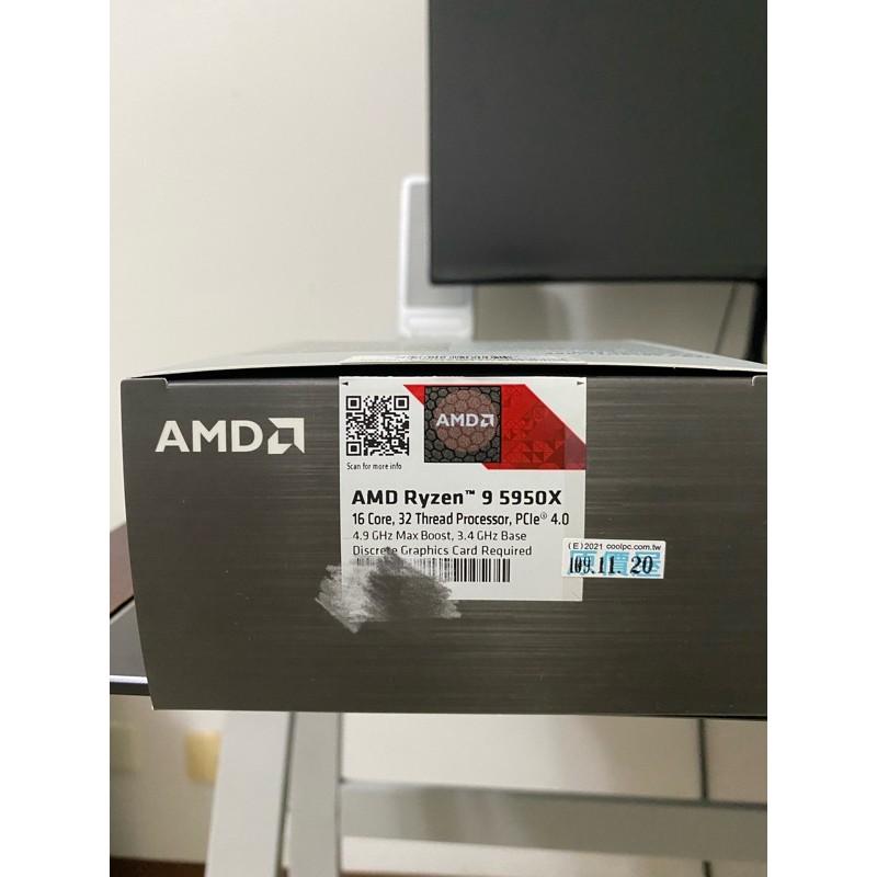 AMD RYZEN 9 5950x 公司貨 盒裝
