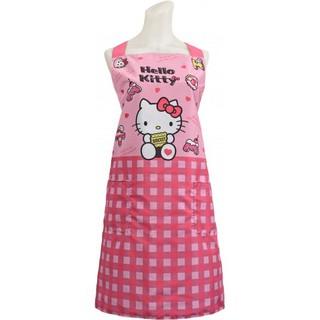 Hello KITTY餅乾圍裙防潑水凱蒂貓粉紅色圍裙三麗鷗口袋圍裙大人圍裙 臺中市