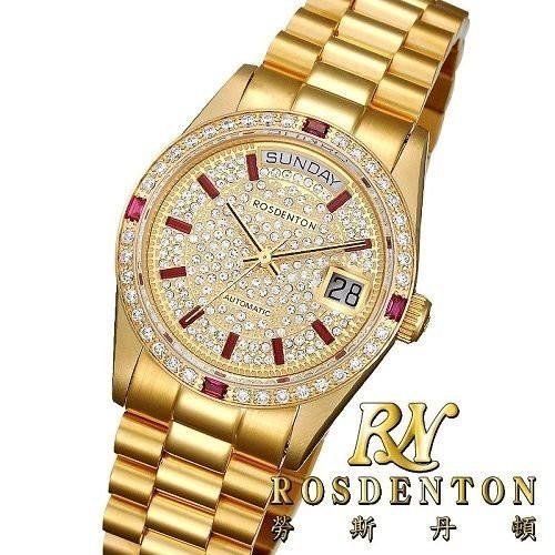 RN勞斯丹頓【97233MGA-A4 傳世】男女金腕錶