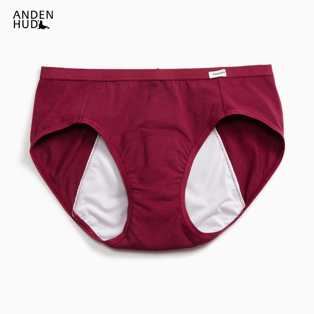 【Anden Hud】超熟睡.中腰生理褲(酒紅) 台灣製