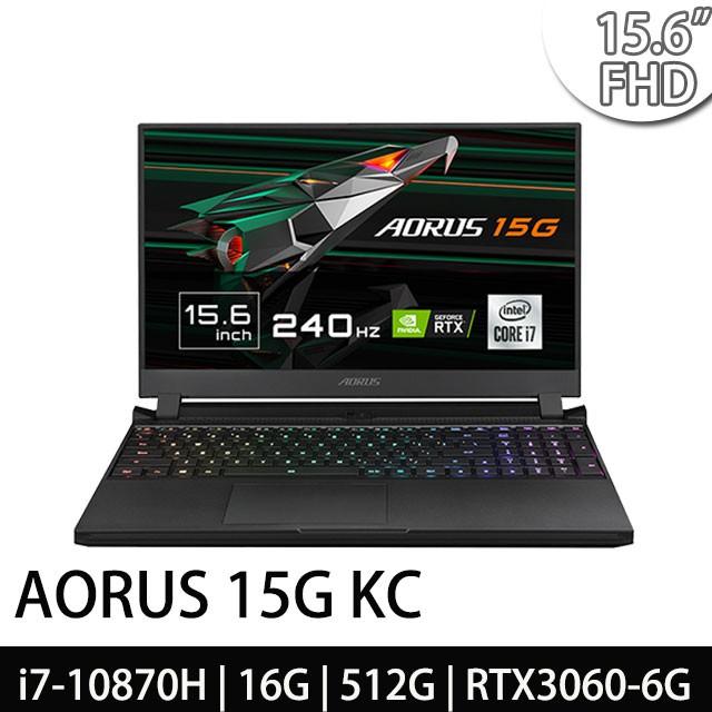 GIGABYTE技嘉 AORUS 15G KC i7-10870H 16G 15.6吋 電競筆電