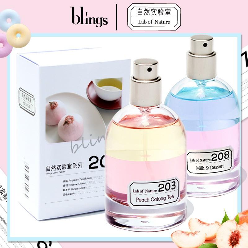 Blings自然實驗室白桃烏龍女士淡香水 Blings 自然實驗室 漸層香水 50ML 抖音 爆款持久清新香水