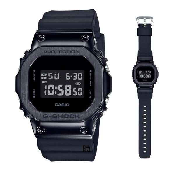 CASIO 卡西歐 G-SHOCK GM-5600B-1潮流 不鏽鋼 手錶