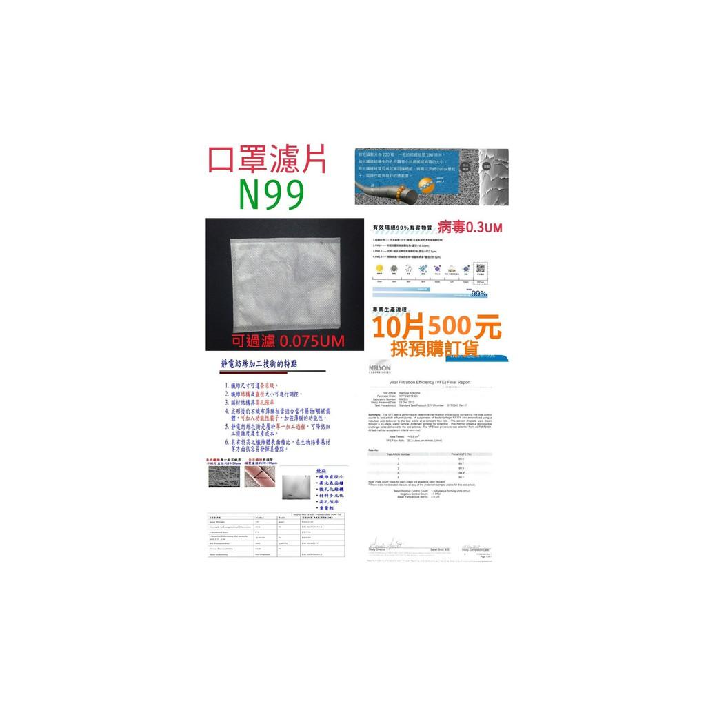 N99 口罩濾片(採預購方式)