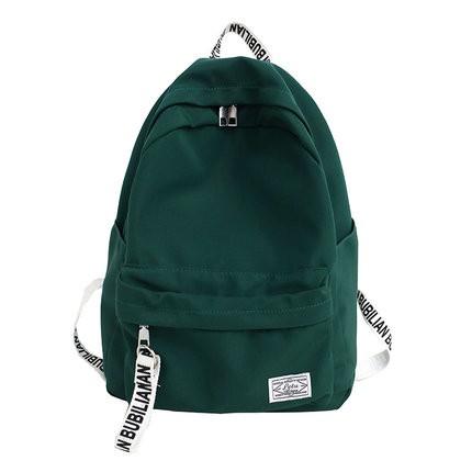 素色後背包 書包女風大學生正韓背包原宿森系初中生日系高中後背包