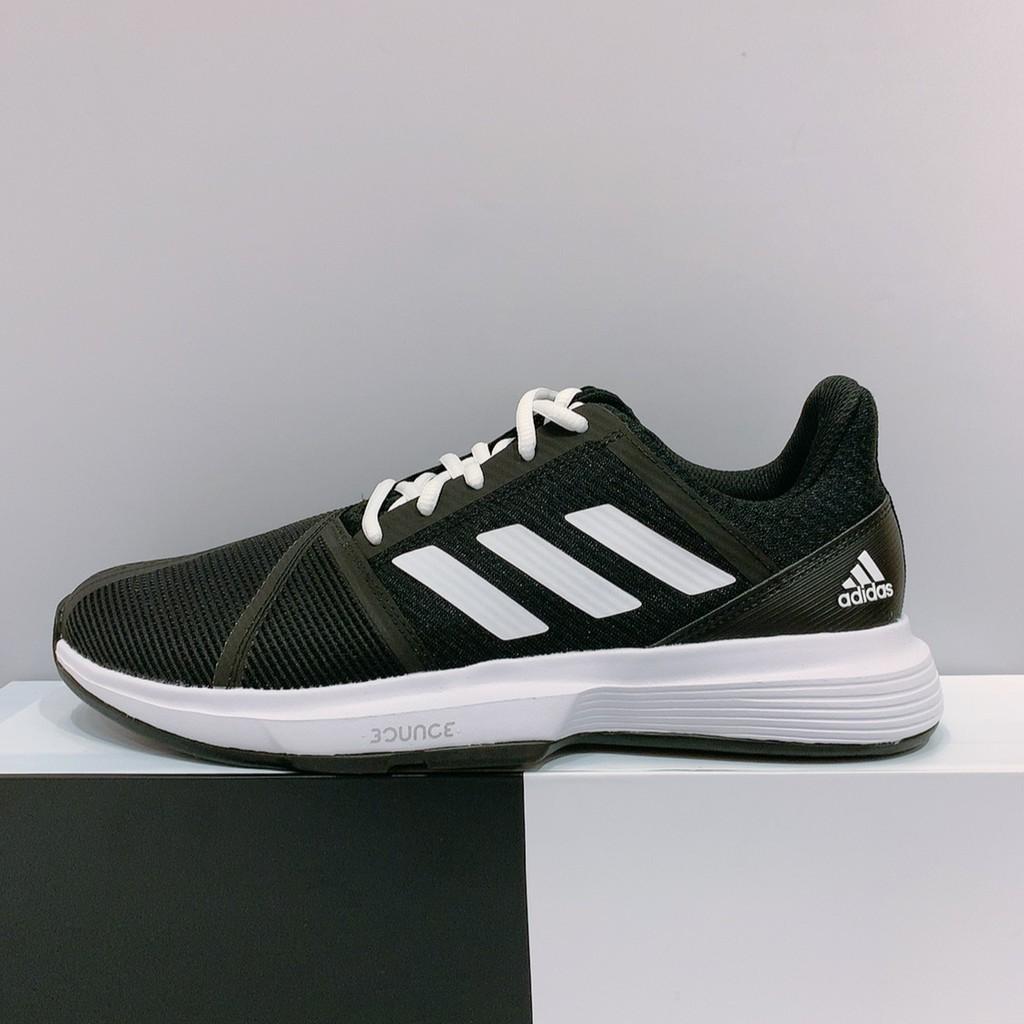 adidas CourtJam Bounce M 男生 黑色 舒適 網球鞋 EG1136