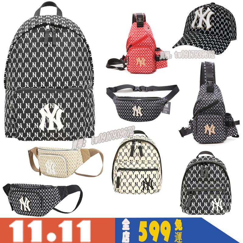 洋基隊 MLB NY 後背包 雙肩包 小包 男女情侶款 包包 背包 帆布背包 學生書包 單肩包 NY腰包 側背包 棒球帽