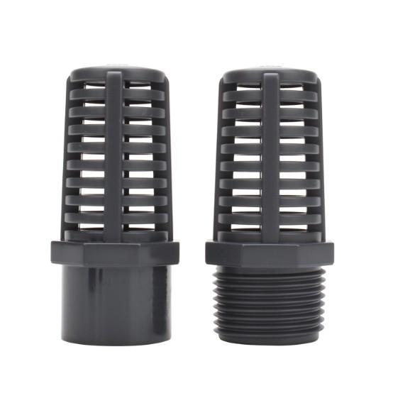 台灣現貨 U-PVC 灰黑色 炸彈頭/濾水頭(4分/6分/1吋/1.2吋/1.5吋)DIY水管接頭配件 魚菜共生 水族