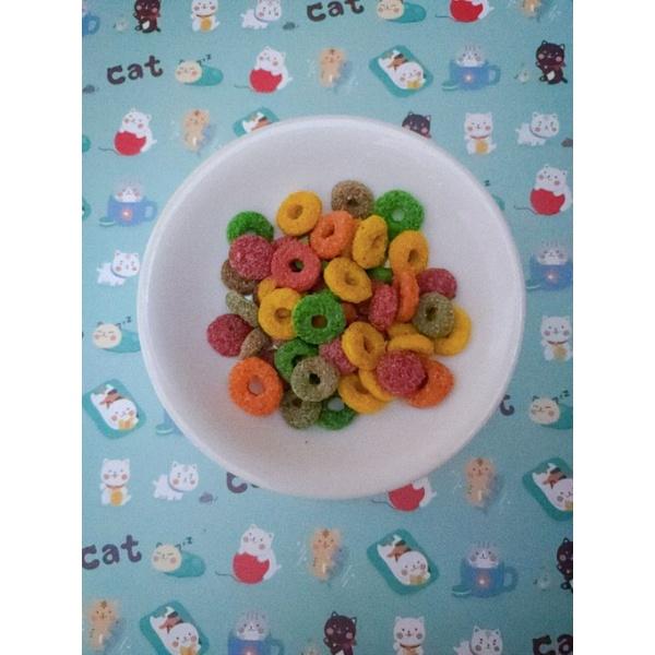 魔法村 綜合玉米甜甜圈 甜甜圈磨牙餅 野莓磨牙餅 倉鼠飼料 主食 零食 點心|倉鼠 兔子 天竺鼠