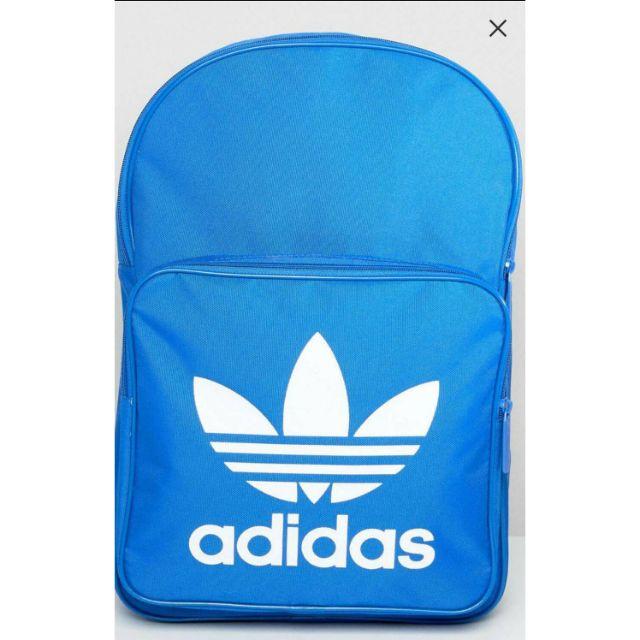Adidas 三葉草 後背包 寶藍色