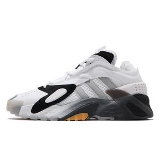 adidas 慢跑鞋Streetball 白黑男鞋運動鞋皮革鞋面EG2994 【正品