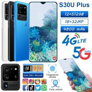 【台中出貨】支援5G手機S30Uplus安卓智能手機 6.8吋水滴屏指紋空機  指紋解鎖  人臉解鎖