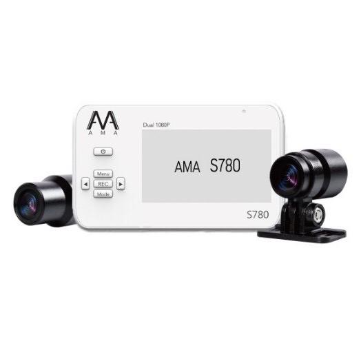 AMA S780 前後行車記錄器 雙鏡頭公司貨 一年保固 機車防水用 1080P 公司貨 另有一台S720附32G記憶卡