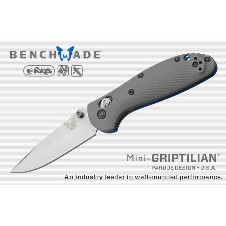 Benchmade MINI-Griptilian灰G10柄平刃折刀 /CPM-20V鋼