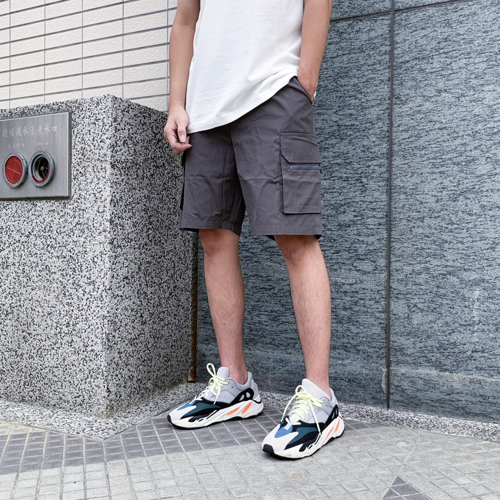 【KT USA】自訂褲款 尼龍工作褲 口袋 工作褲 短褲 兩色