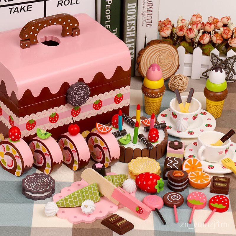 【兒童玩具】免運@女孩寶寶女童切切廚房過家家蛋糕套裝兒童玩具2-3-4-5歲6生日禮物