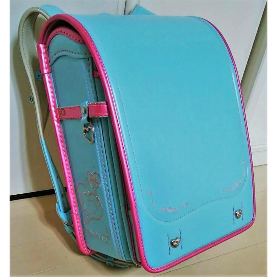 預購【中古探寶B】🔵SEIBAN 天使之羽 日本小學生書包4🔵女孩 女生 背包 文具 開學 兒童 國小 水藍 藍色