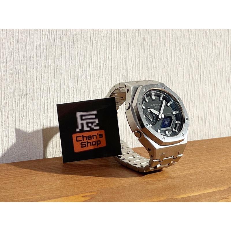 【辰的專業代購】CASIO GSHOCK GA-2100系列金屬錶帶改裝 現貨供應中