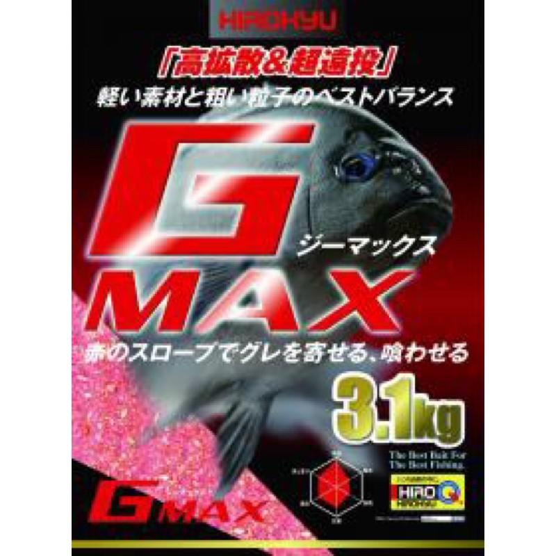 (拓源釣具)HIROKYU G-MAX 黑毛誘餌粉 3.1公斤