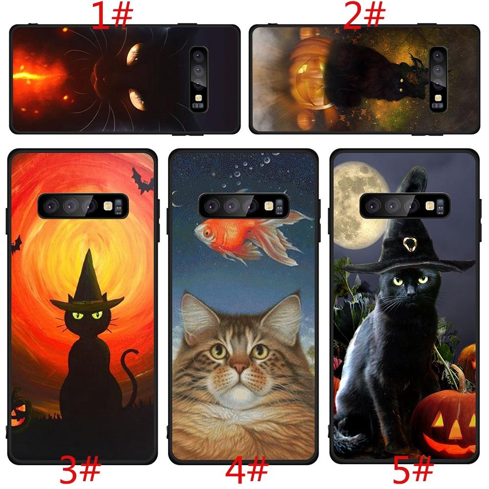 三星 Galaxy S6 S7 Edge S8 S9 S10 Plus 軟殼黑貓綠眼