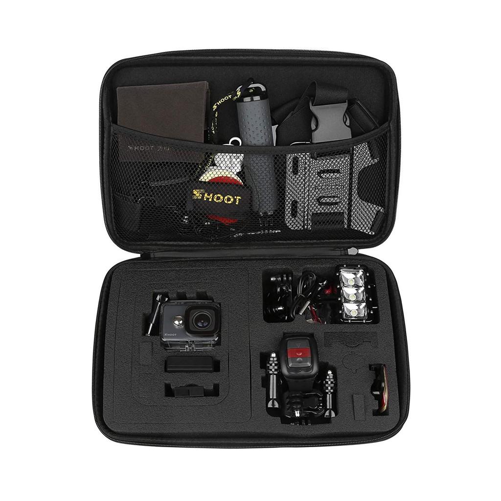 SHOOT適用於Campark DBPOWER Crosstour的Osmo運動相機的大型防水便攜包收納袋FITFORT