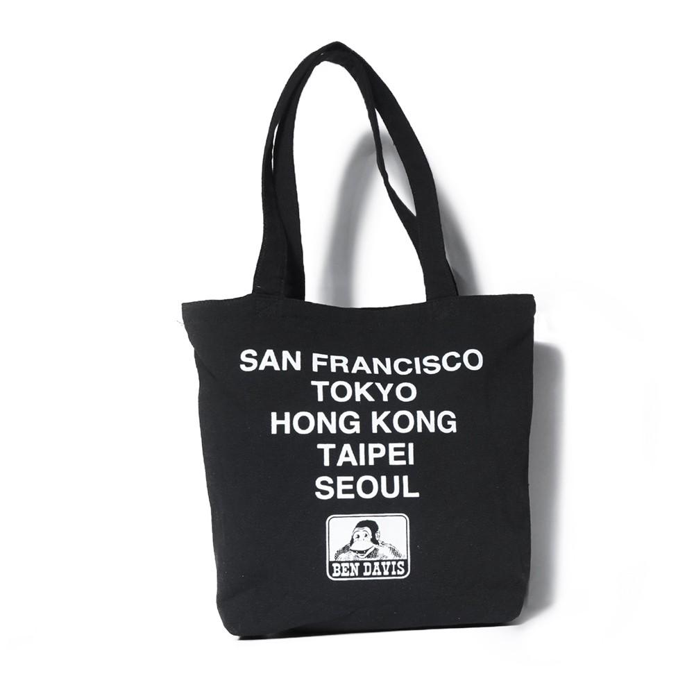 BEN DAVIS TOTE BAG B 黑色 LOGO 雙面 世界 巡迴 帆布包 托特包 包包