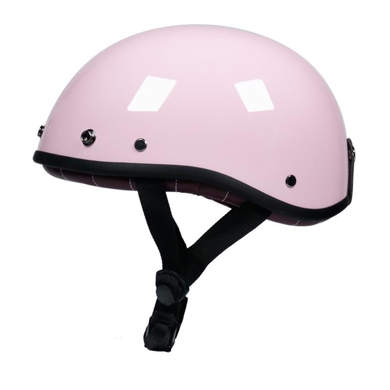 熱賣現貨VOSS復古安全帽男女哈雷半盔電動車夏季輕便式瓢盔電瓶車安全帽