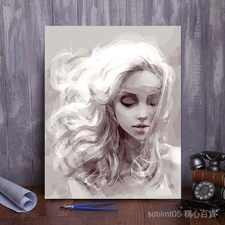 diy數字油畫手繪客廳臥室書房大幅抽象人物油彩裝飾畫 40*50 夢想 NEOj 桃園市