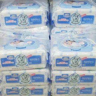 貝恩Baan 嬰兒保養 濕紙巾 柔濕巾 箱購 80pcs*3包 雲林縣