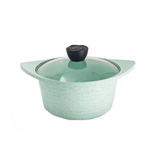 韓國LaCena 翡翠陶瓷不沾湯鍋22cm 附蓋 免運 廠商直送 現貨