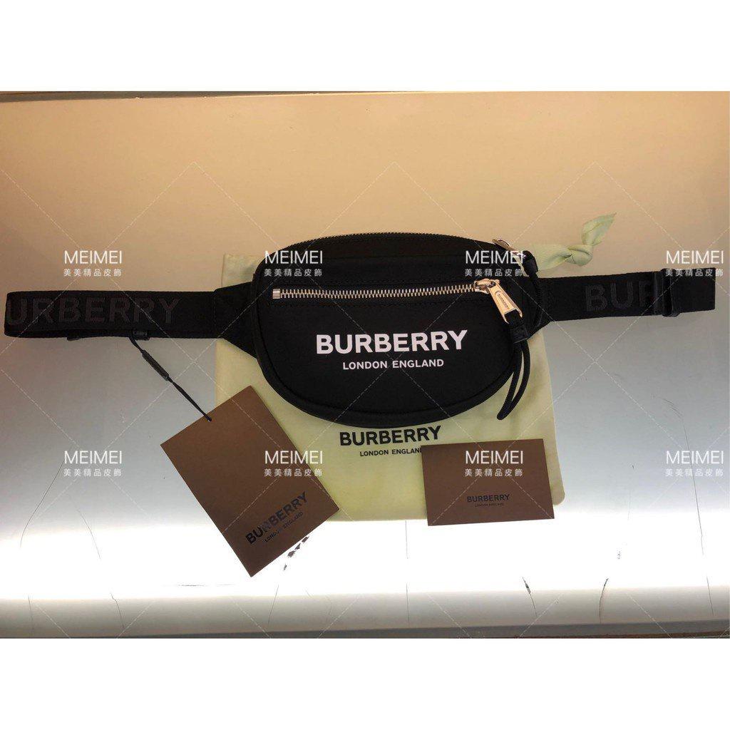 二手 全新代購BURBERRY Logo Print Nylon Bum Bag 腰包 胸口包 迷你包 Nxnl
