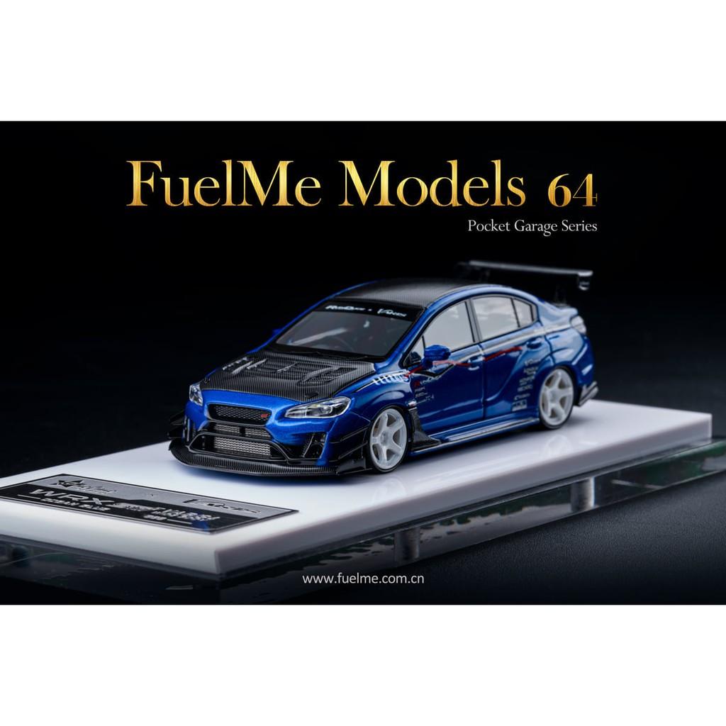 Fuelme 1/64 Subaru Varis改裝套件 WRX STI VAB S4 Ocean Blue 白輪胎