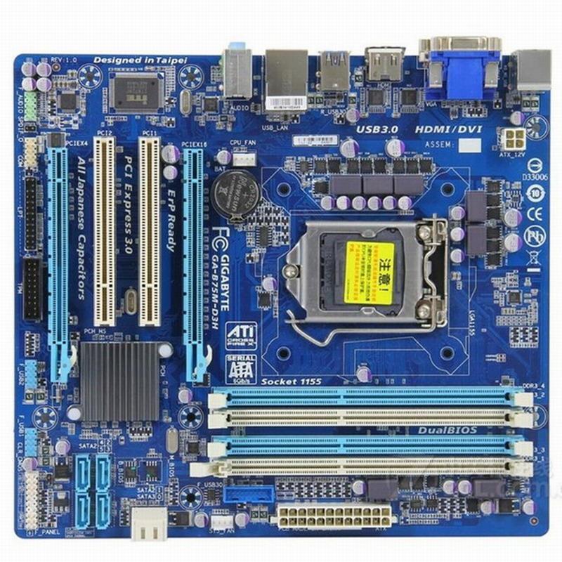 Intel CPU 主機板 I7 2600 I5 2400 3450 3470 B75 1155 DDR3 @技嘉 免運