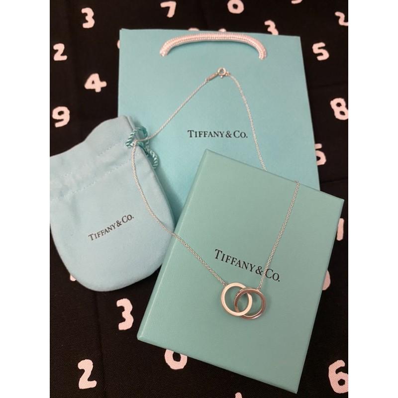 Tiffany&Co 全新1837雙環項鍊 保證正品