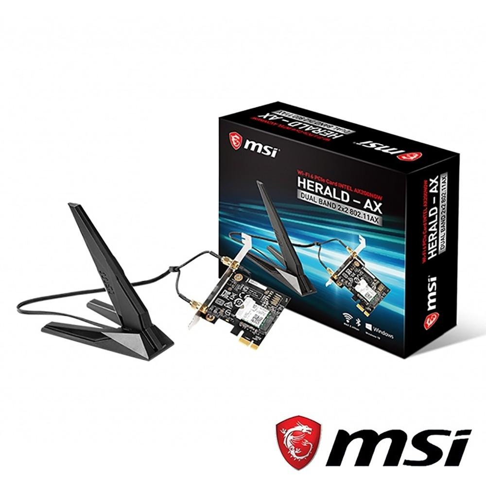 MSI 微星HERALD-AX 無線藍芽網路卡(Intel AX200NGW  )
