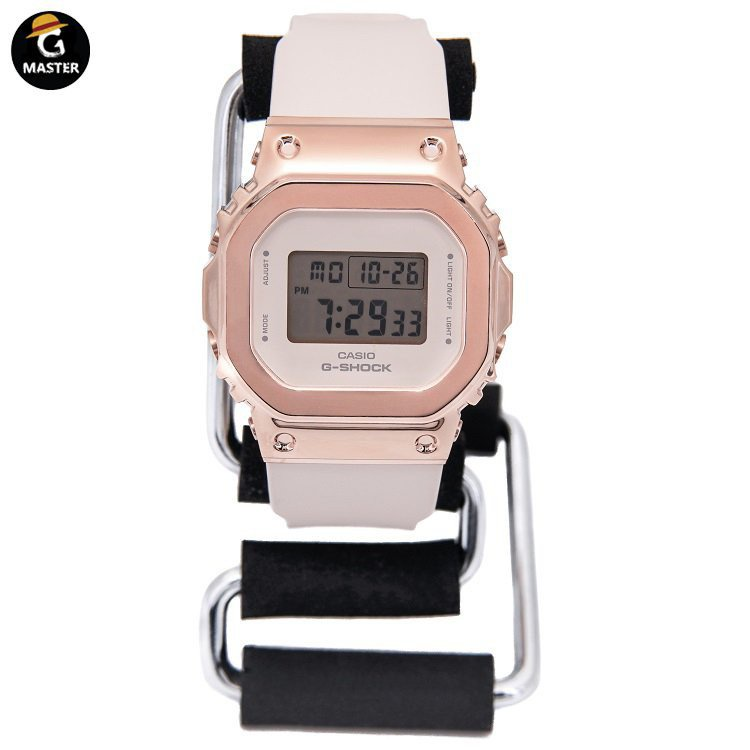 新款CASIO卡西歐G-SHOCK金屬復古小方塊手錶女款GM-S5600-1/S5600PG-4 ULKR2021新品