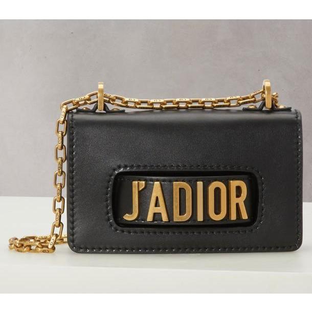 二手Dior迪奧/法國代購/新款黑色金扣Jadior鏈條單肩包