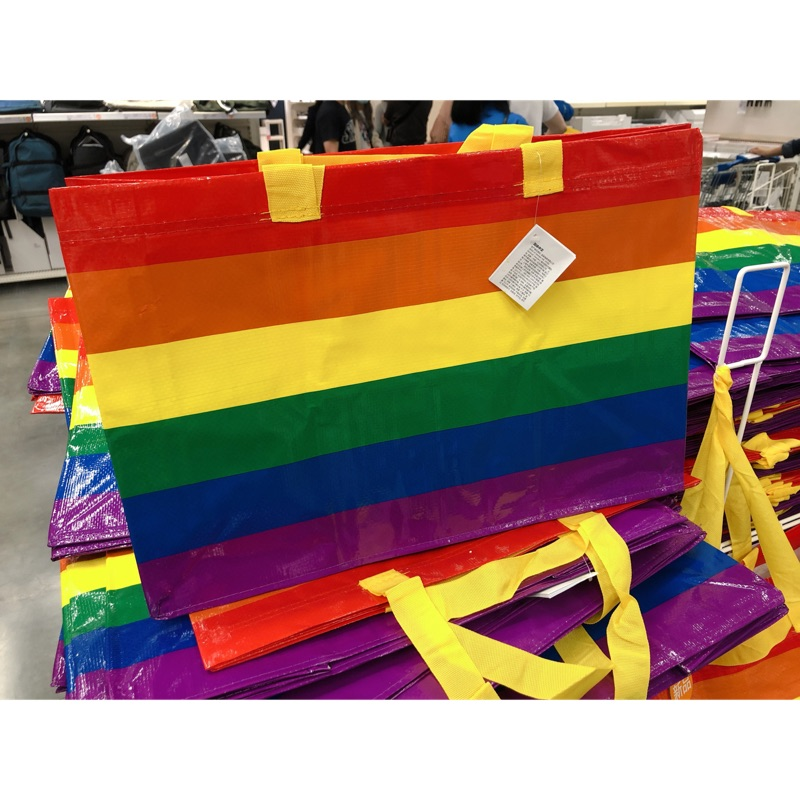 IKEA 彩虹🌈環保購物袋 現貨限量商品 提袋型