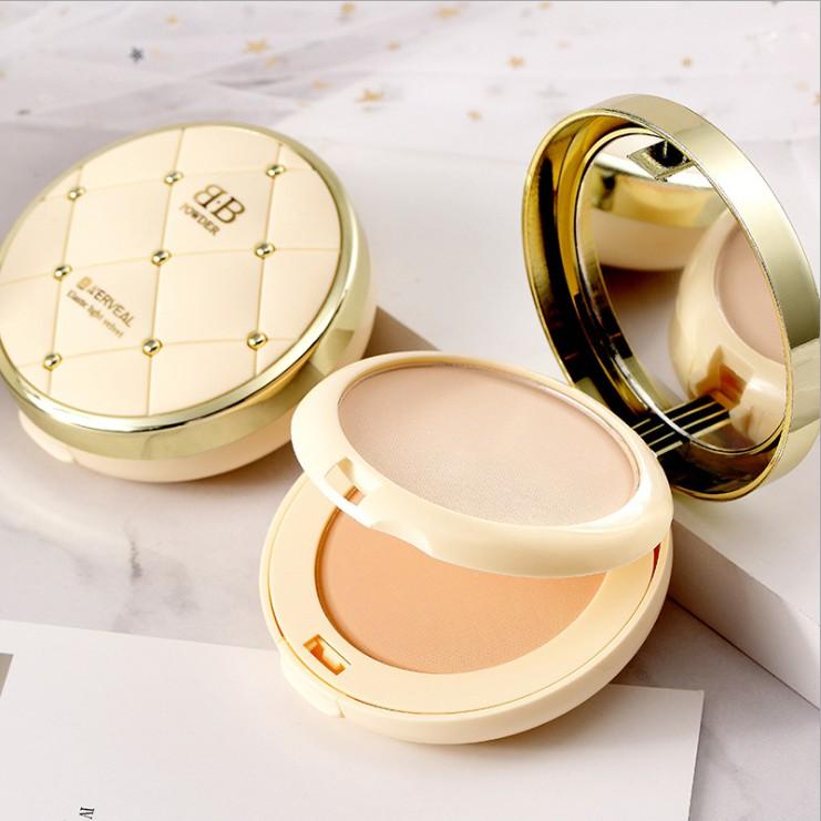 🔥台灣出貨🔥彈力輕紗粉餅干濕兩用雙層粉餅保濕控油遮瑕定妝粉底