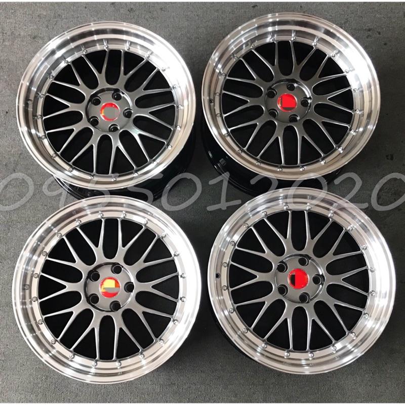 全新類BBS LM2鈦色車邊仕樣5孔114.3/5孔112/5孔120 18吋鋁圈19吋鋁圈