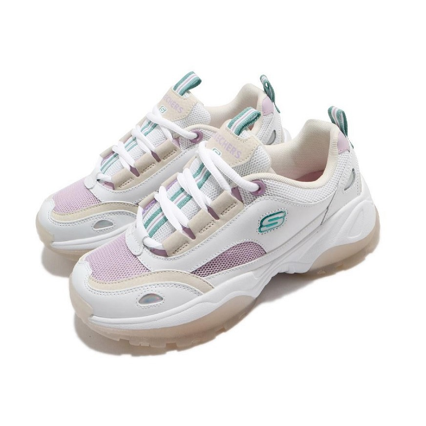 SKECHERS休閒系列女鞋 LITES KOZMIKS 88888407WLV 曾之喬代言款 果凍鞋 老爹鞋