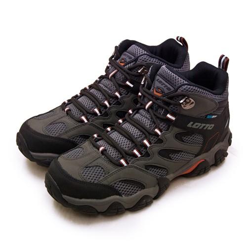 【LOTTO】專業多功能防水郊山戶外健行登山鞋 REX ULTRA系列 灰黑 2768 男