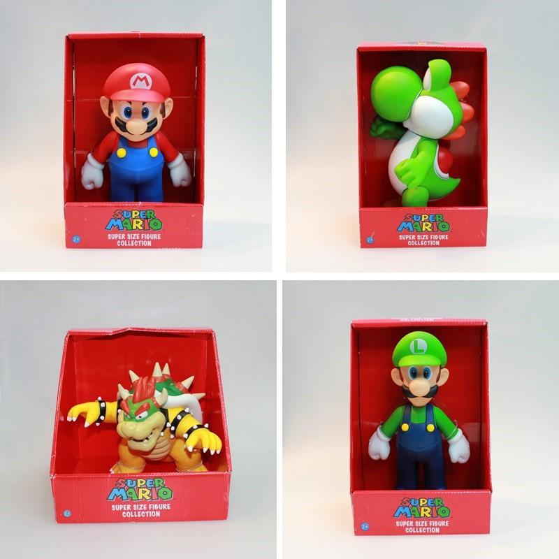 質保☍Super Mario Bros. 超級瑪利歐兄弟 馬里歐 路易 超級瑪麗 瑪莉歐模型公仔 搪膠手辦 收藏玩偶