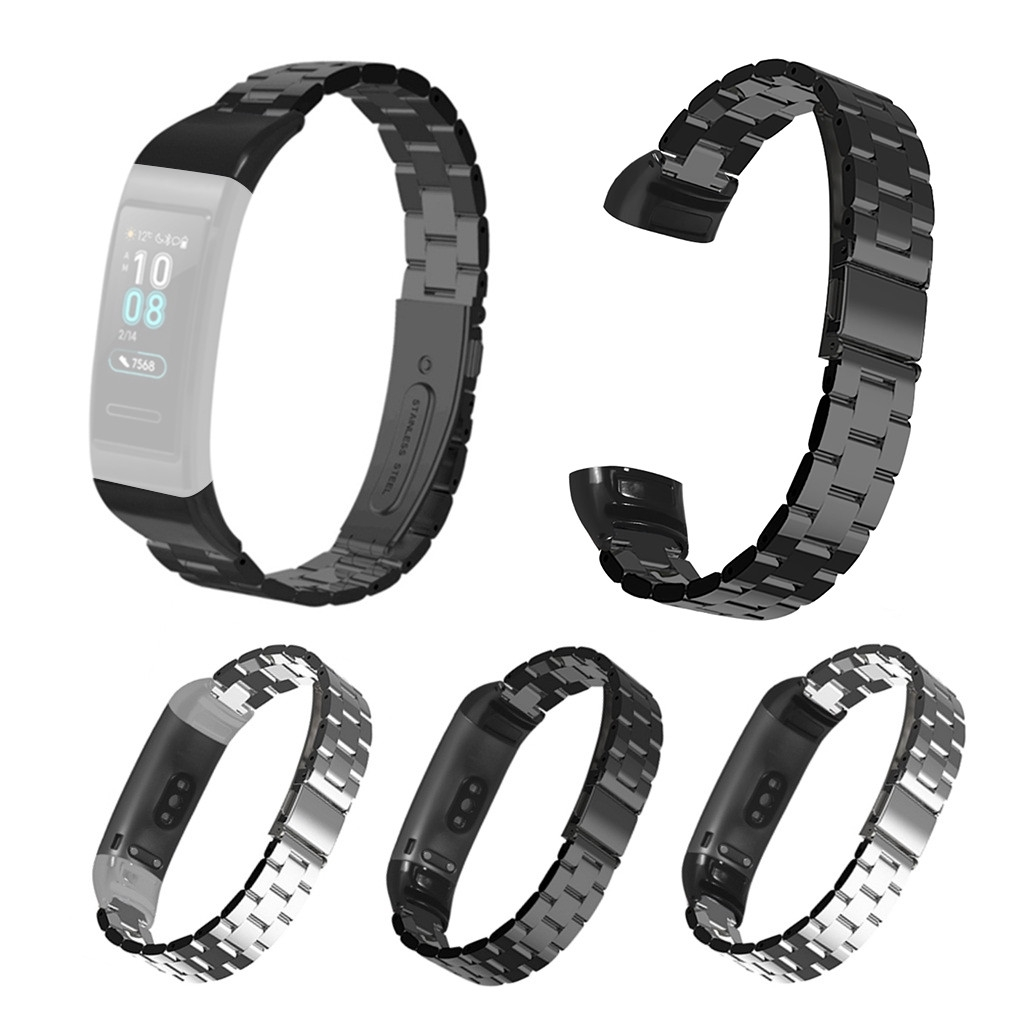 SYStainless Steel快速釋放腕帶錶帶,適用於Huawei Band 3/3 Pro