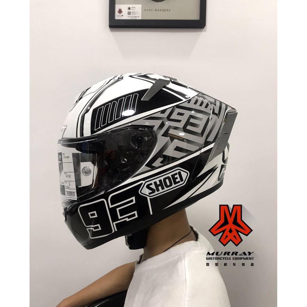 shoei x14白螞蟻全盔摩托車93號馬奎斯白螞蟻頭盔個性安全帽