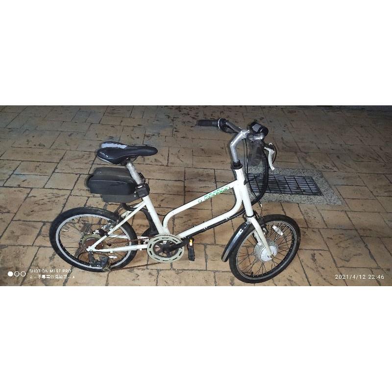 中華汽車設計製造「e-moving電動自行車20吋 二手 小徑車  瑕疵自取內詳