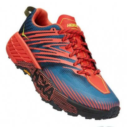 Hoka | Speedgoat 4 for Men (FIESTA/PROVINCIAL BLUE) 越野跑鞋 運動鞋