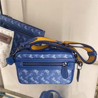 美國【御姐】 COACH F89084 新款男生單肩包 馬拉車LOGO相機包 斜挎包 側背包 青年男女背包 附購證