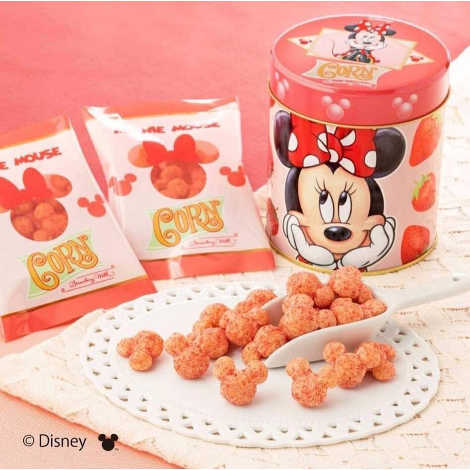 日本Tokyo Banana x 迪士尼米妮 3D造型 草莓牛奶玉米餅乾