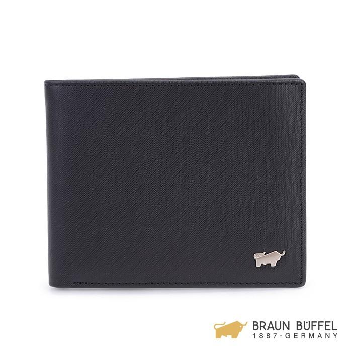 BRAUN BUFFEL HOMME-M系列5卡窗格皮夾 -黯黑 BF306-316-BK
